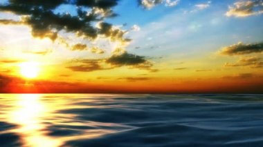 Sunset at coast of the sea — Vídeo de stock