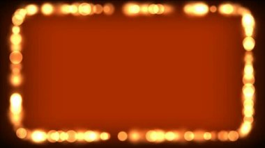 The frame of flickering bokeh — Stock Video
