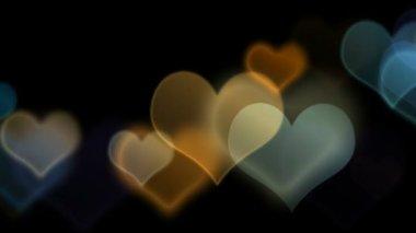 Bunten Bokeh-Herzen — Stockvideo