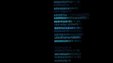 Digital flickering chaos — Stock Video