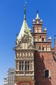 Sights of Poland.  Wroclaw Old Town with Gothic Town Hall. — Stock Photo