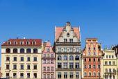 Bezienswaardigheden van Polen. Wroclaw oude marktplein. — Stockfoto