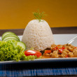 Rice on white plate — Stock Photo #60170195