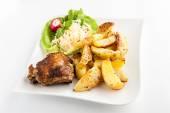 Ziemniaki i kurczaka — Zdjęcie stockowe