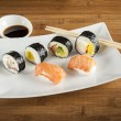 Japanese food - Sushi on white plate — Stock Photo #68317213