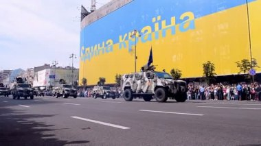 Military parade, Independence Day of Ukraine, Kiev, 2014. — Wideo stockowe
