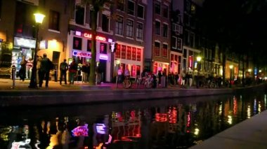 Amsterdam, Red Light District in Amsterdam, Netherlands. — Stock Video