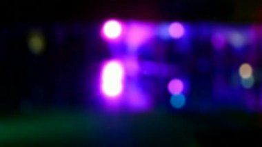 Blue blurred disco light, entertainment diversity. — Stock Video