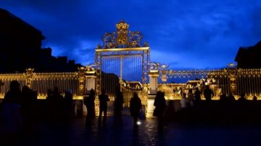 Palace of Versailles (Chateau de Versailles) in Paris,France. — Stock Video