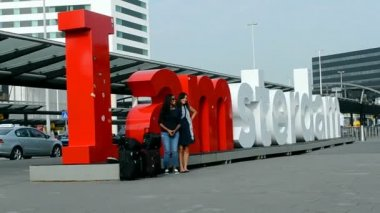 Amsterdam Airport Schiphol, Amsterdam, Netherlands. — Stock Video