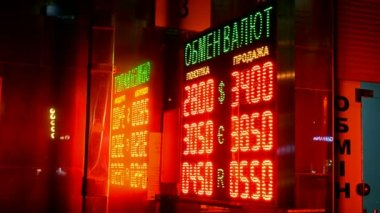 Devaluation, currency exchange display, stock numbers diversity. — Stock Video
