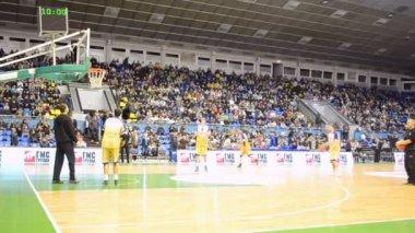 Basketball championship F4 Final in Kiev, Ukraine. — Stock Video