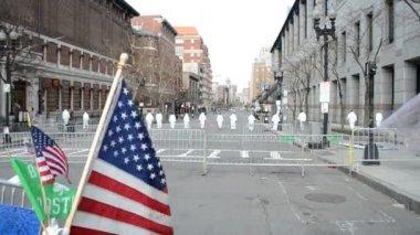 Boston, Investigators on Boylston Street, USA. — Stock Video