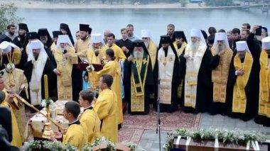 1000th celebration anniversary of the repose of St. Vladimir in Kiev, Ukraine. — Stock Video