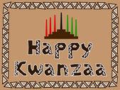 Happy kwanzaa — Stock Vector