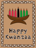 Kwanzaa greeting — Stock Vector