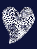 Heart zentangle — Stock Vector