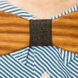 Wooden bow tie festive attire — Stock Photo #63669231