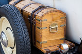 Suitcases on the car — Stock Photo