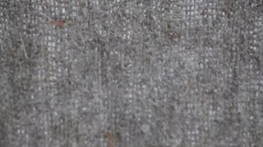 Texture of linen fabric — Stock Video