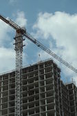 Construction site of multistorey building — Stock Photo