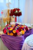 Wedding bouquet on festive table — Stock Photo