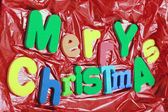 Merry Christmas colored letters — Stock Photo