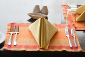 Napkin with knife and fork — Stock Photo