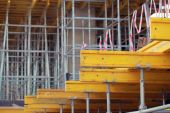 Building construction formwork — Stock Photo