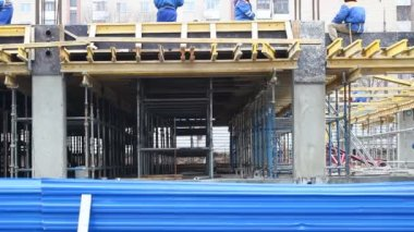 Formwork of the foundation and walls — Stock Video