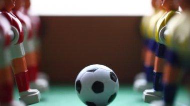 Arcade foosball players — Стоковое видео