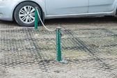 Cerca de Chain no estacionamento — Fotografia Stock