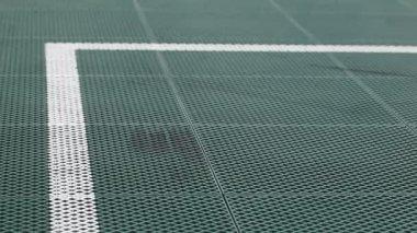 Искусственное футбольное поле — Стоковое видео