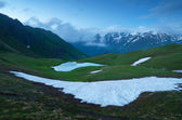 Snowfield in the mountains — Stock Photo