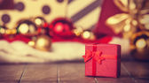 Christmas gifts. Photo in vintage style. — Stock Photo