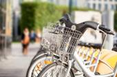 Bikes for rent in Brussels — 图库照片