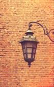 Lamp and bricks — Stock Photo