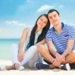 Beautiful couple on the beach. — Stock Photo #65733557