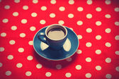 Blue cup of coffee  — Stock Photo
