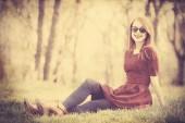 Belles femmes dans le parc. — Photo