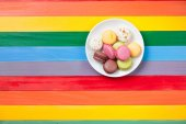 Macarons on a plate — Stock Photo