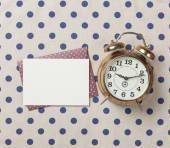 Alarm clock and envelope with letter  — Stock Photo