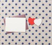 Two heart shape toys — Stockfoto