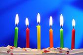 Birthday candles — Stock Photo