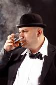 Whiskey drinker — Stock Photo