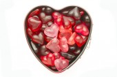 Mold with jelly heart — Foto Stock