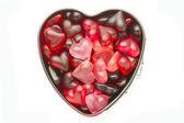Mold with jelly heart — Φωτογραφία Αρχείου