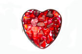 Form with jelly heart — Stock Photo