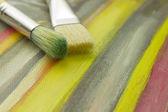 Tintas, pincéis — Fotografia Stock