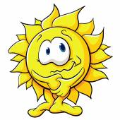 Cute cartoon sun — Stock Vector